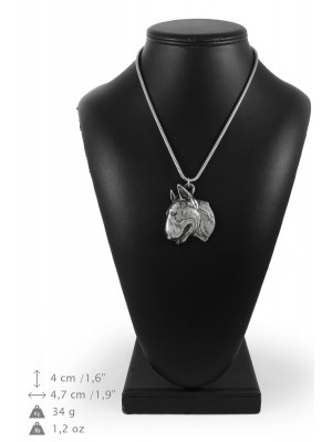 Bull Terrier - necklace (silver chain) - 3308 - 34355
