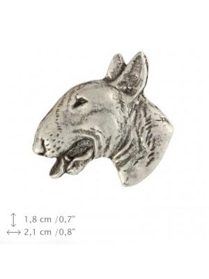 Bull Terrier - pin (silver plate) - 1527 - 26070