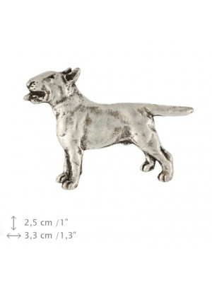 Bull Terrier - pin (silver plate) - 445 - 25872