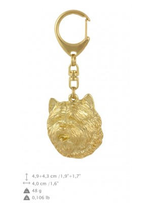 Cairn Terrier - keyring (gold plating) - 840 - 30045