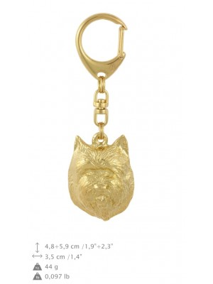 Cairn Terrier - keyring (gold plating) - 881 - 30130