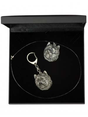 Cairn Terrier - keyring (silver plate) - 1800 - 11957