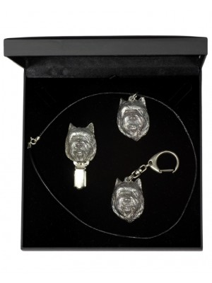 Cairn Terrier - keyring (silver plate) - 1880 - 13232
