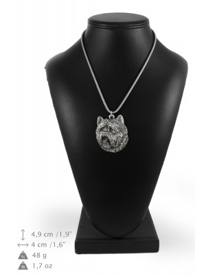 Cairn Terrier - necklace (silver cord) - 3199 - 33215