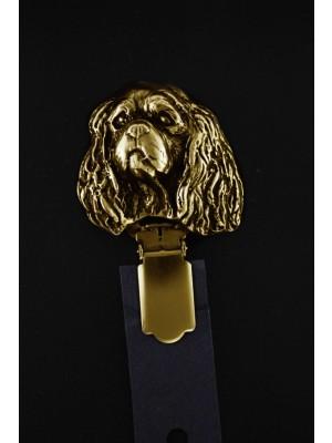 Cavalier King Charles Spaniel - clip (gold plating) - 1034 - 4543