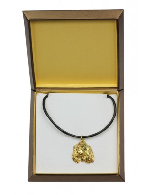 Cavalier King Charles Spaniel - necklace (gold plating) - 2497 - 27656
