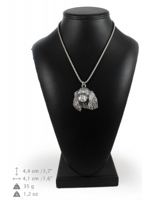 Cavalier King Charles Spaniel - necklace (silver cord) - 3259 - 33421