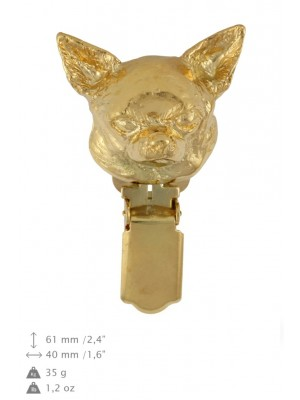 Chihuahua - clip (gold plating) - 1042 - 26781