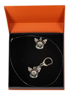 Chihuahua - keyring (silver plate) - 2191 - 20951