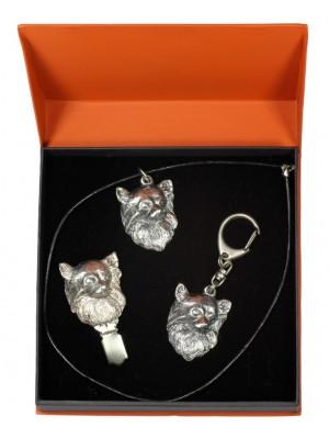 Chihuahua - keyring (silver plate) - 2281 - 23605