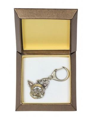 Chihuahua - keyring (silver plate) - 2789 - 29909