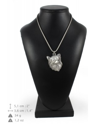Chihuahua - necklace (silver chain) - 3355 - 34600