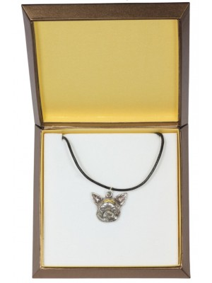 Chihuahua - necklace (silver plate) - 2976 - 31119