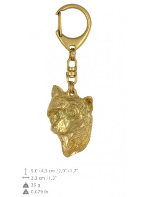 Chinese Crested - keyring (gold plating) - 815 - 25107