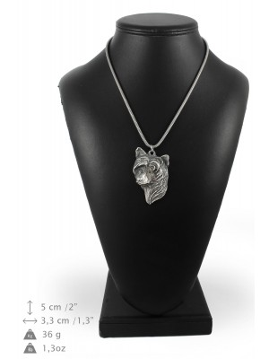 Chinese Crested - necklace (silver cord) - 3177 - 33096