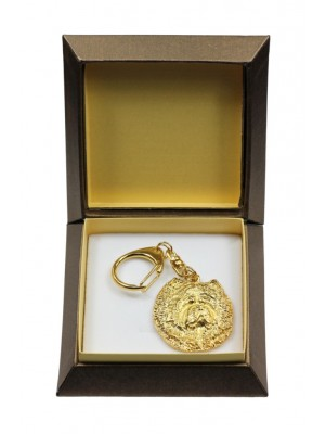 Chow Chow - keyring (gold plating) - 2848 - 30510