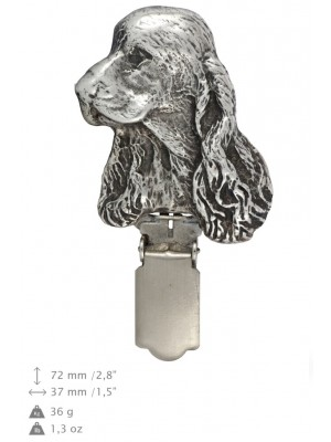 Clumber Spaniel - clip (silver plate) - 290 - 26376