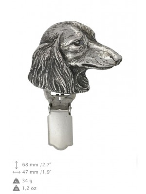 Dachshund - clip (silver plate) - 1615 - 26532