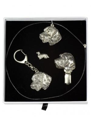 Dachshund - keyring (silver plate) - 2079 - 18085