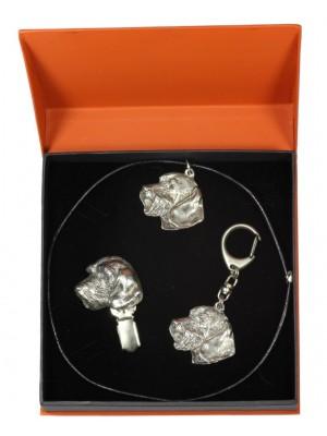 Dachshund - keyring (silver plate) - 2256 - 22778