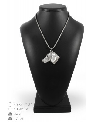 Dachshund - necklace (silver chain) - 3290 - 34290