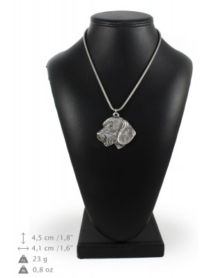 Dachshund - necklace (silver cord) - 3202 - 33220
