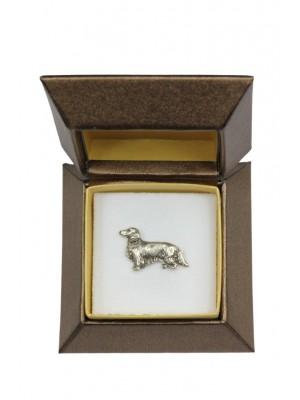 Dachshund - pin (silver plate) - 2671 - 28953