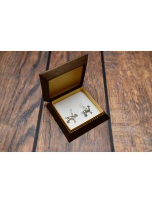 Dalmatian - earrings (silver plate) - 4687 - 41862