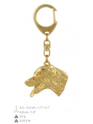 Dalmatian - keyring (gold plating) - 784 - 29100