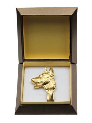 Doberman pincher - clip (gold plating) - 2595 - 28556