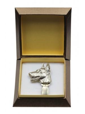 Doberman pincher - clip (silver plate) - 2544 - 28126