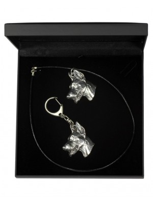 Doberman pincher - keyring (silver plate) - 1773 - 11553