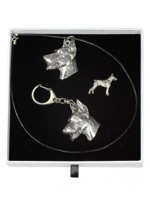Doberman pincher - keyring (silver plate) - 2096 - 18608