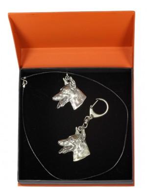 Doberman pincher - keyring (silver plate) - 2200 - 21158