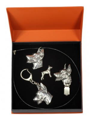 Doberman pincher - keyring (silver plate) - 2290 - 23903