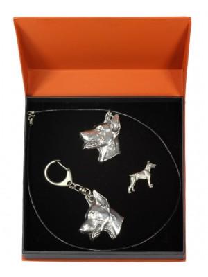 Doberman pincher - keyring (silver plate) - 2306 - 24431