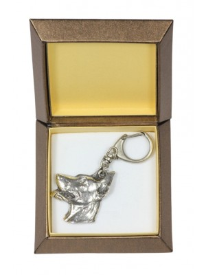 Doberman pincher - keyring (silver plate) - 2744 - 29863