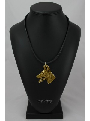 Doberman pincher - necklace (gold plating) - 995 - 4333