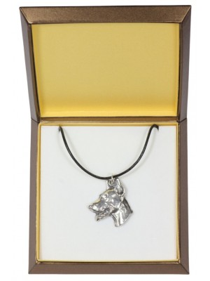 Doberman pincher - necklace (silver plate) - 2929 - 31073