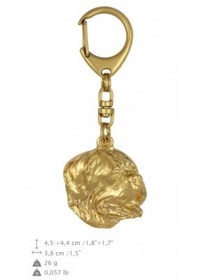 Dog de Bordeaux - keyring (gold plating) - 820 - 25117