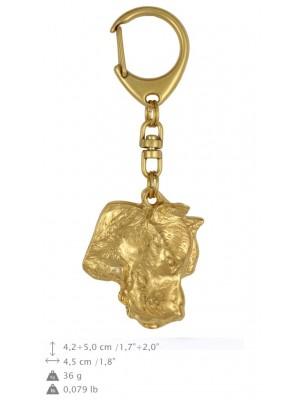 Dogo Argentino - keyring (gold plating) - 793 - 25037