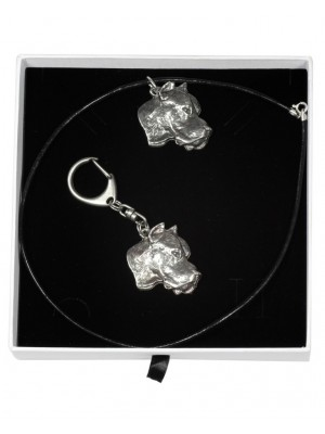 Dogo Argentino - keyring (silver plate) - 1941 - 14555