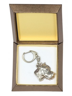Dogo Argentino - keyring (silver plate) - 2728 - 29847