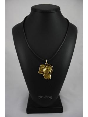 Dogo Argentino - necklace (gold plating) - 1713 - 10855