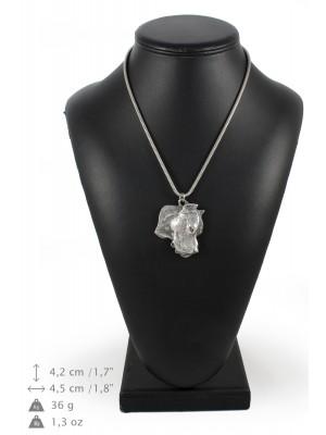 Dogo Argentino - necklace (silver chain) - 3277 - 34264