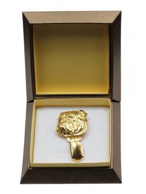 English Bulldog - clip (gold plating) - 2606 - 28567