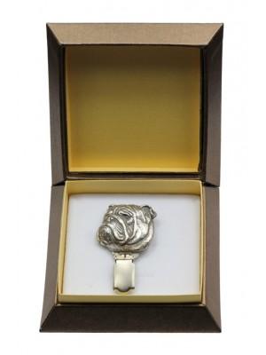 English Bulldog - clip (silver plate) - 2557 - 28138