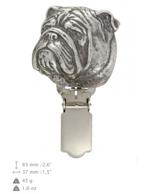 English Bulldog - clip (silver plate) - 283 - 26352