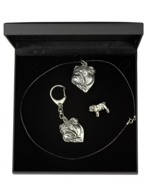English Bulldog - keyring (silver plate) - 1927 - 14254