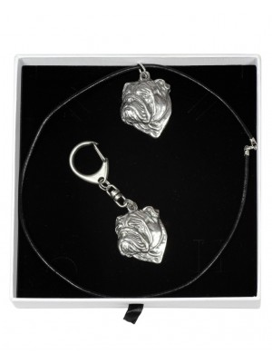 English Bulldog - keyring (silver plate) - 1947 - 14691